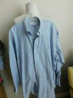 Brooks Brothers Size 18 35/35 Blue Cotton Button Down Long Sleeve Dress Shirt