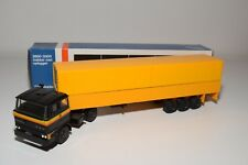± LION CAR DAF 2800 TRUCK WITH TRAILER BLACK YELLOW NEAR MINT BOXED