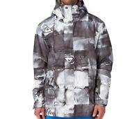 QUIKSILVER Men's NEXT MISSION Print Snow Jacket - BLK - Large - NWT