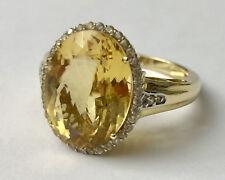 Harry Ivens Ring Gelbgold GG 585 mit Goldberyll & Zirkonen, Gr. 19