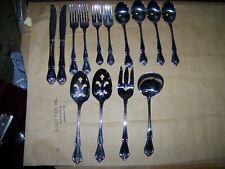 Oneida Rogers ARBOR ROSE TRUE ROSE Stainless Steel Flatware Fork Spoon Serving
