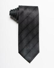 """Tom Ford NWT $260 Black Textured Striped 100% Silk Tie Made in Italy 3.25"""" 8 cm"""