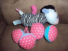 Zebra Baby Rattle Garanimals Stuffed Plush Vibrating Crib Stroller Toy
