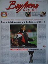Programm UEFA Cup 1999/00 Bayer Leverkusen - Udinese Calcio