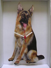 Alsatian / German Shepherd Dog Wall Clock. New & Boxed