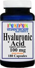 Hyaluronic Acid High Potency 100mg 180 Capsules High Quality 100% Made USA/ FDA