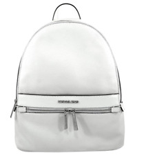 MICHAEL KORS KENLY OPTIC WHITE LEATHER LARGE WOMEN'S BACKPACK