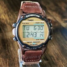 Vintage 90s Timex Expedition Indiglo Digital Watch 100M WR with Original Band
