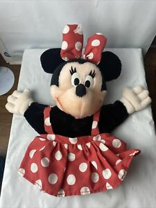 """Vintage Disney 12"""" Minnie Mouse Hand Puppet Plush by Applause B6"""