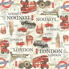 Lot de 2 Serviettes en papier Londres Symboles Decoupage Collage Decopatch