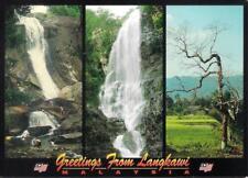 MALAYSIA POSTCARD - LANGKAWI WATERFALL & COUNTRYSIDE VIEW