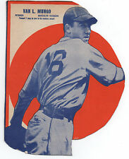 1930s Wheaties Box Baseball Card of Pitcher Van Mungo of the Brooklyn Dodgers
