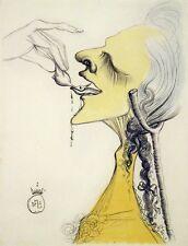Salvador Dali, Original Engraving from Illustre Casanova suite, MAKE AN OFFER!