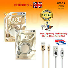 Juice USB Type C 3.1 Fast Charge Sync 1m Cables for Samsung LG Huawei HTC Sony