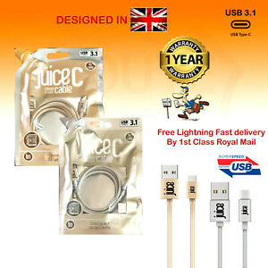 Juice USB Type C 3.1 Fast Charge Sync 1m Cable