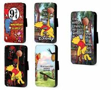 Winnie the Pooh phone case Piglet case friendship quote leather wallet case