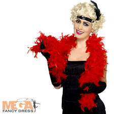 Red Feather Boa Ladies Fancy Dress 1920s Charleston Flapper Costume Accessory