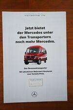 Prospekt MERCEDES TRANSPORTER Personentransporter 01/1994 TOP-ZUSTAND