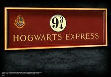 Harry Potter Hogwarts Express Platform 9 3/4 Wooden Wall Sign Noble Collection