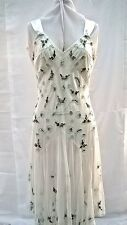 Beautiful Light Cream Embroidered Evening Dress - For Sale for £45.00