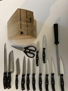 chicago cutlery essentials 15 pcs knife set READ DESCRIPTION