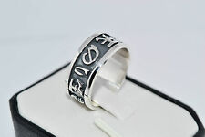 925 STERLING SILVER HANDMADE SOLID UNISEX RING SIZE UK- O or P or R