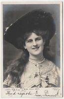 ZENA DARE - Edwardian Actress - 1904 used real photo postcard
