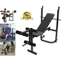 Weight Bench Adjustable Incline Barbell Lifting Press Gym Equipment Exercise C73