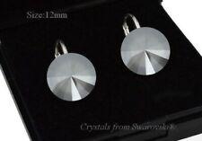 Pendientes de plata 925 * gris oscuro * Rivoli cristales de Swarovski ®