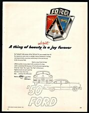 1950 FORD Emblem Vintage Car AD A thing of beauty is a joy forever
