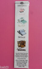 GENUINE Sizzix 1 Pair CUTTING PAD PLATE 654558 for Sizzlits Decorative Strip die