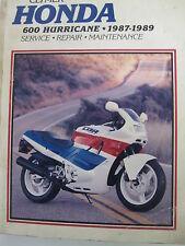 HONDA  600 HURRICANE 1987-89 CLYMER SERVICE-REPAIR MANUAL 399 PAGES guidebook