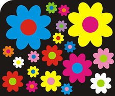 90 Multi Coloured Daisy Flower Stickers Car Decals Graphics Walls