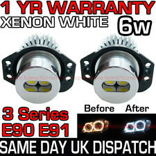 Bmw Serie 3 E90 E91 Xenon Blanco Angel Eye 7000k 6w bombillas de LED marcador 63117161444