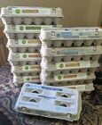 Lot of 12 used paper egg carton containers cardboard crafting DIY hobby