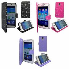 CASE FOR SAMSUNG GALAXY S5 GLITTER WALLET FLIP PU LEATHER POUCH PHONE COVER