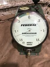 Mahr Federal Dimensionair Air Gage D 4000 Large Dial Gently Used 40001 0001