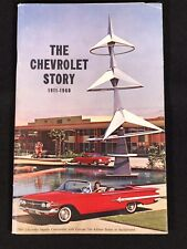 Vtg 1960 The Chevrolet Story 1911-1960 Advertising Sale Booklet Impala Cover