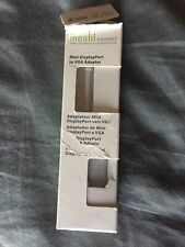 moshi mini display port to vga adapter cable for macbook silver finish