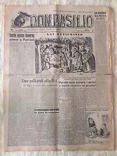 Don Basilio n.68 - 28 dicembre 1947 settimanale satirico d'opposizione