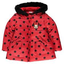 Girls Kids Disney Minnie 3-4 yrs Pockets Fleece Lined Padded Coat Jacket B352-7