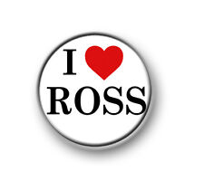 """I LOVE / HEART ROSS / 1"""" / 25mm pin button / badge / band / Indie Pop / 1975"""