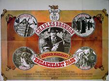 BREAKHEART PASS 1975 Charles Bronson, Ben Johnson, Richard Crenna UK QUAD POSTER
