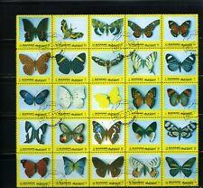 BUTTERFLIES OF MANAMA  >>Souvenir SHEET{25} CTO  1972