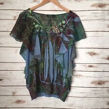 Apt 9 Boho Gypsy Festival Top Shirt Blouse Career Casual School Work Wear Sz M