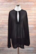 Women's CREME DE SILK Blouse Top Tunic Cover Up Shirt Crochet Size 2X
