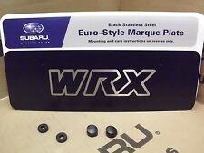 Geniune OEM Subaru WRX Front Euro-Style License Plate  (SOA342L131)