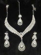 exquisite jewelry- White (stone) necklace,headpiece(Tikka) and ear rings