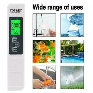 1* Digital PH Meter + LCD TDS EC Water Purity PPM Filter Hydroponic Tester0 Q7L6
