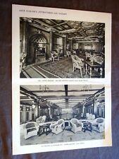 Grandi navi da viaggio nel 1928 Sulla Nave Conte Grande Salone piscina lettura
